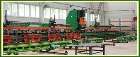 车架纵梁平板数控冲孔生产线