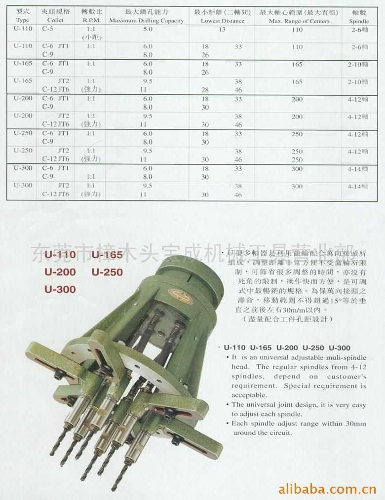 U型钻孔/攻牙多轴器2