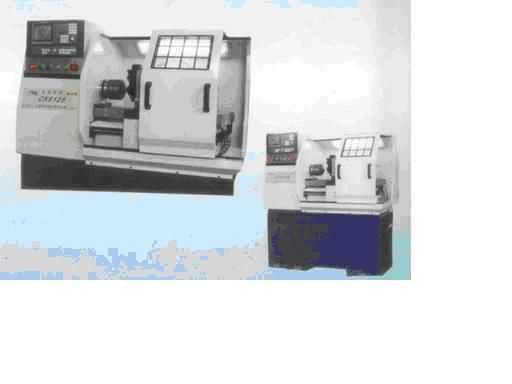 CK6125数控车床简介:本机床是本公司最新开发具有独特性能的高速、高刚性、精密的半闭环、全功能型数控车床,该车床体积小,模块式结构,机电一体化造型,操作维修方便,适合于摩托车、气动工具、仪表等行业各类复杂、半精密和精密零件或批量生产加工。  较重载预紧,精密直线导轨床身  精密、高速、高刚性主轴系统  KND-100T数控系统,松下MINAS全数字式交流伺服驱动器和伺服电机及富士变频器  优质、完善、及时的售后服务