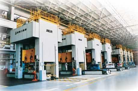 闭式双点单动压力机组成的冲压生产线