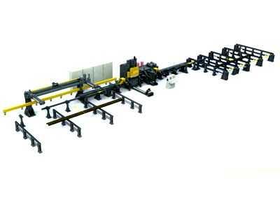 DLC55-3车架U型纵梁数控冲孔生产线