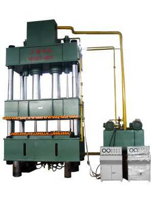 四柱式液压机1000吨结构图