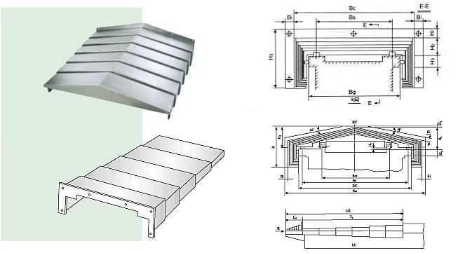 钢板、不锈钢板机床寻轨防护罩