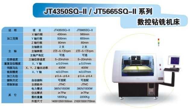 JT系列数控钻铣机